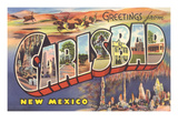 Greetings from Carlsbad  New Mexico