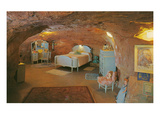 Girl&#39;s Bedroom in a Cave