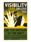 Lend Your Binoculars to the Navy  WWII Poster