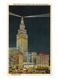 Terminal Tower  Hotel Cleveland  Night