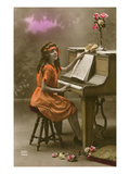 Girl Seated at Piano
