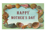 Happy Mother's Day  Seashell Border