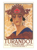 Art Deco Poster for Turandot