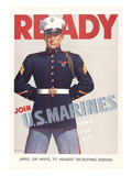 Ready  Marine Corps Recruiting Poster