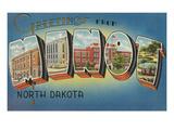 Greetings from Minot  North Dakota