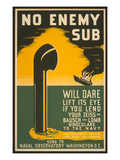 Lend Your Binoculars to the Navy  WW II Poster