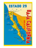 Map of Baja California  Mexico