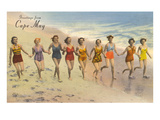 Greetings from Cape May  New Jersey  Bathing Beauties