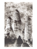 Twin Domes  Giant Stalagmites  Carlsbad Caverns  New Mexico