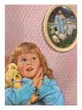 Little Girl Praying by Jesus Picture