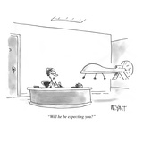 """Will he be expecting you"" - Cartoon"