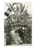 Senorita with Elaborate Floral Display