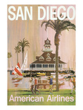 Travel Poster for San Diego  California