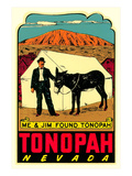 Tonopah  Nevada Decal