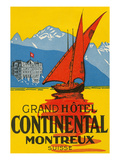 Travel Poster  Montreux  Switzerland