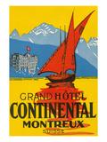 Travel Poster  Montreux  Switzerland