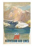 Travel Poster  Norwegian Air Lines