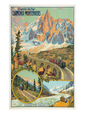 Vintage Travel Poster for Chamonix  France