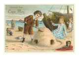 Greetings from Cape May  New Jersey  Children on Beach
