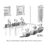 """""""OK  if a grand bargain is off the table  then how about a pony"""" - Cartoon"""