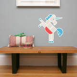 Letter U - Ulysses the Unicorn Wall Decal