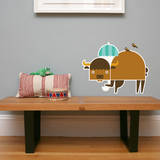 Letter B - Biki the Buffalo Wall Decal
