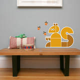Letter S - Sidney the Squirrel Wall Decal