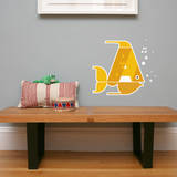 Letter A - Alex the Angelfish Wall Decal