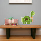 Letter D - Don the Dinosaur Wall Decal