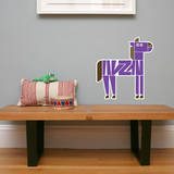 Letter Z - Zach the Zebra Wall Decal