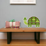 Letter T - Tobias the Turtle Wall Decal