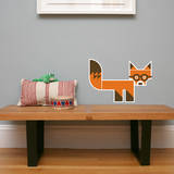 Letter F - Finnegan the Fox Wall Decal