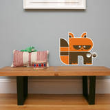 Letter R - Riley the Raccoon Wall Decal