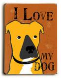 I love my dog brown