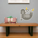 Letter G - Gloria the Gorilla Wall Decal