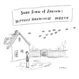 """Sure Sign of Spring: Mittens Heading North"" - New Yorker Cartoon"