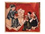 Bachelor Teaching His Pupils  C 15th