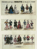 Figurini dell'Opera Rigoletto (Figures from the Opera Rigoletto)  Opera by Giuseppe Verdi