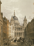 View of St Paul's Cathedral from Ludgate Hill  1852
