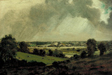 Dedham Vale  View to Langham Church  from the Fields just east of Vale Farm  East Bergholt  c1811
