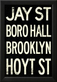 New York City Brooklyn Jay St Vintage RetroMetro Subway Poster