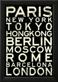 Cities of the World RetroMetro Travel Poster
