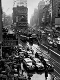 Times Square During a President Franklin D Roosevelt Speech Transmission  New York  1941