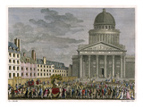 Rousseau's Idolization  His Remains are Moved to the Pantheon in 1794