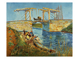 Pont de l'Anglois at Arles with Washer- Women  March 1888