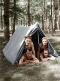 Young Men in a Tent
