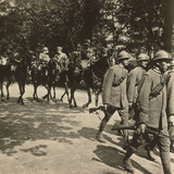 Italian Troops with General Montuore on Horseback in the Parade of Troops Celebrating End of WWI