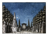 Stage design for Act II of Don Giovanni  Opera by Wolfgang Amadeus Mozart