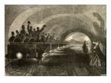 The Test Drive on the Subterranean Railway in London  October 11  1862