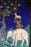 Thikse Monastery  Wall Painting  Ladakh  Himalaya